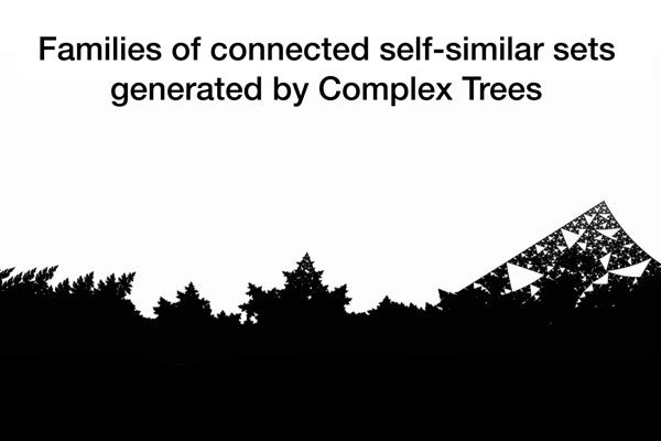 Families of connected self-similar sets generated by complex trees